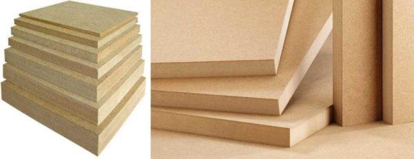 Длина и ширина плиты МДФ стандартная, а вот толщина может быть разной
