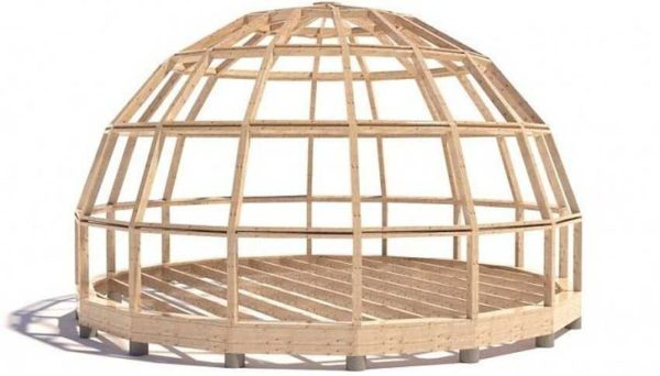 Стратодезический купол состоит из фрагментов, похожих на прямоугольник (трапеция с небольшим уклоном сторон)