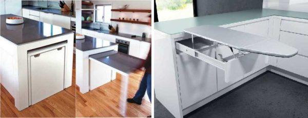 Увеличить полезную площадь стола на кухне