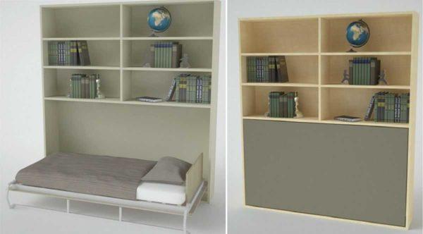 Кровать-трансформер встроенная в шкаф