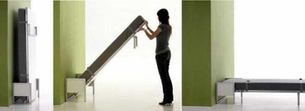 Мебель-трансформер: вертикальная откидная кровать удобна для малогабаритных квартир