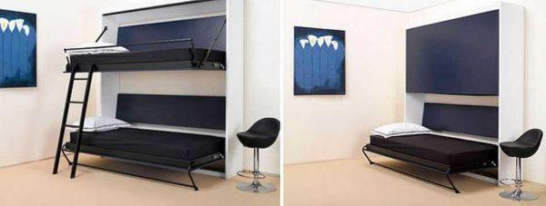 Двухъярусная откидная кровать-шкаф