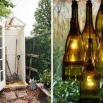 Из старых окон/дверей и стеклянных бутылок тоже можно сделать полезные поделки для сада и дачи