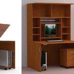Шкаф-рабочий стол пригодится в комнате подростка или взрослого человека