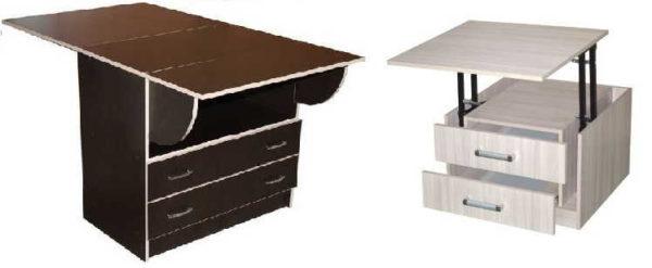 Комод-стол в считанные минут позволит превратить гостиную в столовую