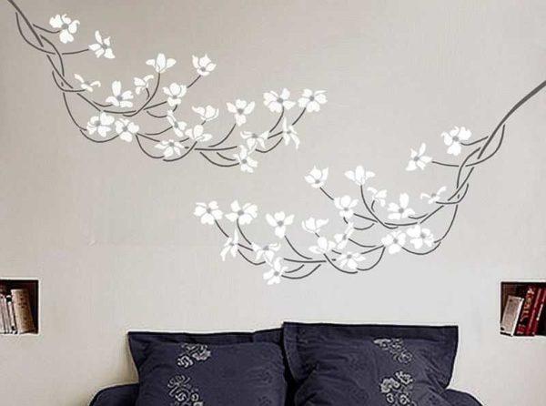 В спальне рисунок должен быть не столь вызывающим и ярким