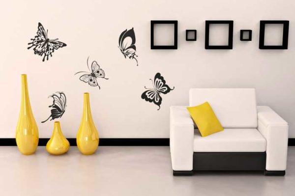 Бабочки в интерьере - вечная тема... на трафаретах они тоже есть