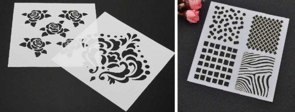 Из бумаги можно сделать простой одноразовый трафарет