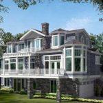 Трехэтажный загородный дом из кирпича. Абсолютная асимметрия