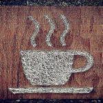 Картина из необычных материалов для кухни: чашка с горячим напитком