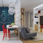 Проект маленькой квартиры для молодой семьи: 46 кв.м от Марины Цой + 4 варианта перепланировки