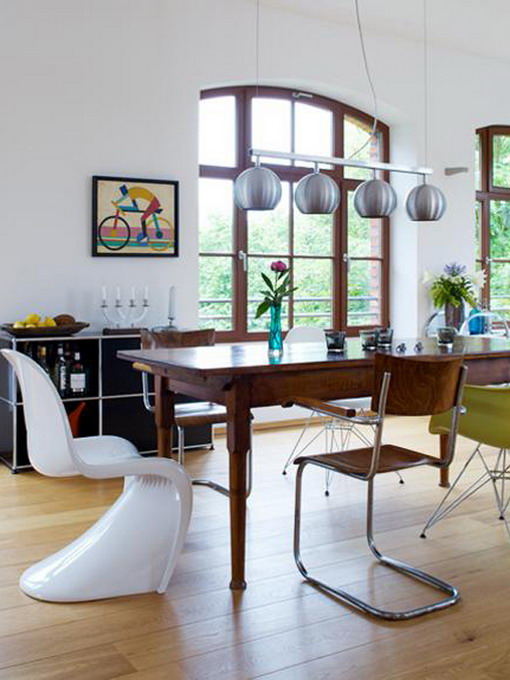 how-to-match-antique-table-and-designer-chairs8